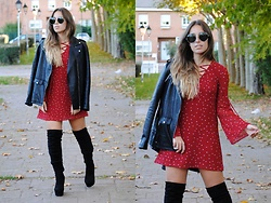 Claudia Villanueva - Zerouv Sunglasses, Zara Jacket, Lookbook Store Dress, Asos Boots - Fall Stars