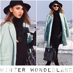 Luana Codreanu - Michael Kors Bag, Ray Ban Sunglasses, Guess Dress, H&M Hat - WINTER WONDERLAND
