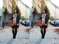 Sandy L. - Michael Kors Bag, Bershka Jacket, Bershka Skirt - Preppy in Fall