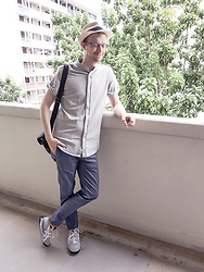 Scott This Guy Ah - Zalora Shirt, Topman Pants, Onitsuka Tiger Sneakers - In Between Rain