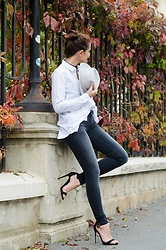 Cristina Feather -  - Super skinny grey jeans for autumn