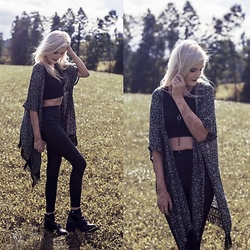 Faye S. - C&A Kimono, Missguided Pants, Jeffrey Campbell Shoes - Stronger now but still the same