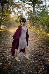 Ralizabeth Orellana - Shein Overcoat, Tj Maxx Dress, Tj Maxx Booties - Fall in New Jersey