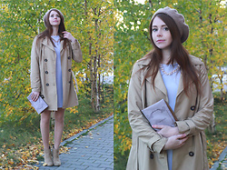 Anna Aleshina - New Look Belted Mac, Asos Clutch, New Look Boots, Asos Shift Dress - Parisian