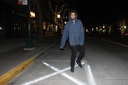 Donovan Alexander - Avirex Denim Hoodie, Paul Smith Black Denim, Saucony Sneaker - Cut My Hands Off Cant Even Text U