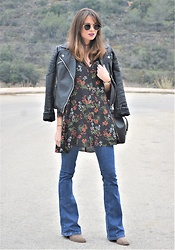 Rebeca LookForTime - Zara Dress - Boho- Rock