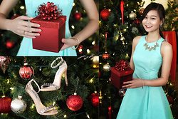 L Z - Kate Spade Dress, Banana Republic Statement Necklace, Steve Madden Shoes - Magical Merrymaking