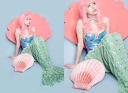 Kailey Flyte - Margarita Mermaid Swimsuit, Seatail Mermaid Blanket - Under the Sea