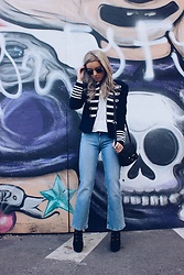 Joicy Muniz - Tommy Hilfiger Jacket, Tommy Hilfiger Shirt, Tommy Hilfiger Jeans, Moschino Bag, Forever 21 Shoes - Cool Grafitti