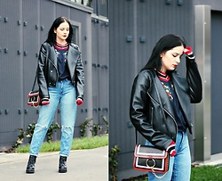 Natalia Pawlik - Zaful Sweatshirt, Zara Jacket, Forever 21 Jeans, Choies Boots, Zaful Bag - Eye of the tiger