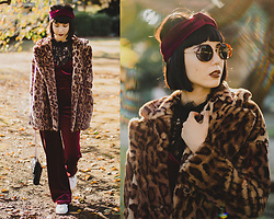 Samantha Mariko - Ozoc Coat, Bershka Jumpsuit, Zara Top, Brothers And Sisters Headband, Metrocity Bag, Zerouv Sunglasses - Velvet & leopard