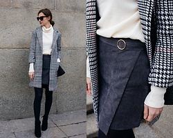 Daria Moysa - Zaful Skirt, Zaful Coat - Last weekend