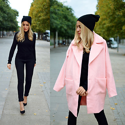 Cris M. - Missguided Pink Coat - How to Wear a Pink Coat