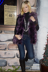 Bree Fesh - Terry Jolo Purple Faux Fur Vest, Louis Vuitton Silver And Gold Cuff, Jenny Bird Silver Layered Necklace, Levi's® Dark Blue Jeans, House Of Harlow 1960 Gold Earingings - Rockin' Around
