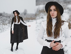 Daniela Guti - Rosegal Skirt, Dresslily Hat - Cold