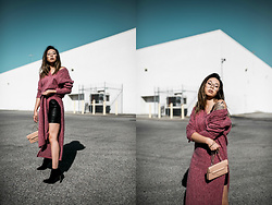 Mariel Cornel - Zaful Sweater Dress, Zaful Skirt, Zaful Booties, Melie Bianco Purse - Sweater Beats