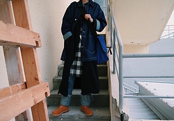 Mushroooooom H - Asos Denim Jacket, Carhartt Cross Bag, Plac Jean, Timberland Yellow Boots - ?bbb