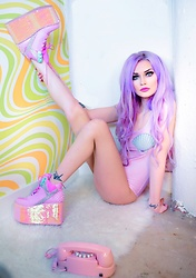 Alyssa Claire - Yru Mermaid, Minga London Bodysuit - Mermaid mondays