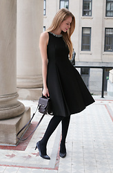 Natalie A - Kate Spade Cocktail Dress, Mackage Rubie Satchel, Stuart Weitzman Pumps - LBD
