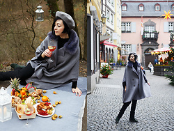 Aleksandra L. - Zara Cape, Zara Beret - WINTER GERMANY