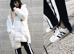 ERIKA N - H&M Puffer Jacket, Zara Track Pants, Adidas Superstar - All I need is a puffer jacket.
