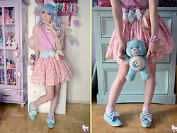 Luly Pastel Cubes - Follow The White Rabbit Bow, Spreepicky Top - Carebear