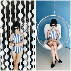 Kiana Mc - American Apparel Bodysuit, Warby Parker Sunnies, Everlane Shoes - Standard Stripes
