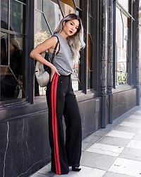 Karen Song - Rich Honey Muscle Top, Zara Track Pants Trousers - ATHLETICHIC.
