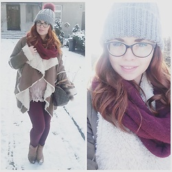 Inez Oszek - Louis Vuitton Bag, H&M Treggins - Winter time!