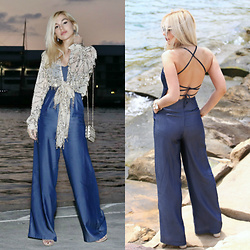 Scarlett Vargas - Zaful Cardigan, Attik Jumpsuit - Day to Night Jumpsuit