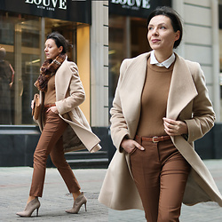 Minimalissmo .. - Jass Woolen Coat, Zaful Sweater, Koton Pants - Camel coat