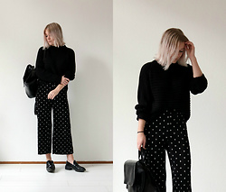 Manon Dijkhuizen - Monki Sweater, Zara Pants - There's never a wrong time for a polka dot!