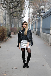 Marie And Mood - Pull & Bear Skirt - Silver Skirt
