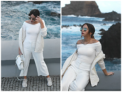 Bárbara Marques - Stradivarius Bomber, Zara Culottes, Primark Sneakers, Michael Kors Bag, H&M Sunglasses - By chance