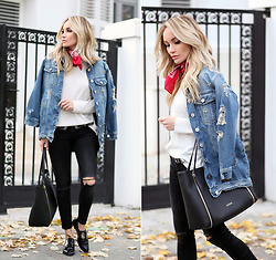 Silvia P. - Guess Jacket, Guess Bag, Zara Jeans - Denim all the way