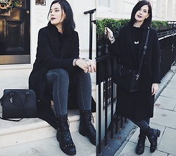 Nina Wirths - Stradivarius Bag, Monki Jacket, Asos Boots, Vero Moda Jeans, Forever 21 Necklace, Forever 21 Rings - London love
