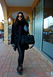 Khloe Lo - Zara Coat, H&M Leather Pants - The perfect winter outfit