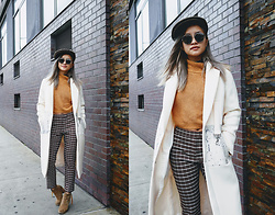 Jessica Tran - Thrifted Check Pants, Dolce Vita Taupe Suede Booties - Grandpappy V2