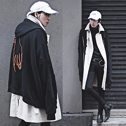 IVAN Chang - Sugar005 Outwear, Burberry Trench Coat, Sugar005 Cap, Topman Jeans, Asos Boots, Sugar005 Top - 171216 TODAY STYLE