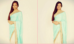 Luxshana Shoghikaran -  - Elegant Saree Studio Photo Shoot.