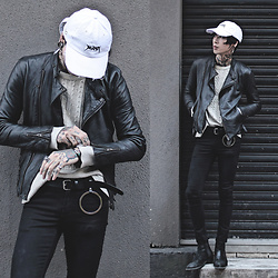 IVAN Chang - Vintage Leather Jacket, Sugar005 Cap, Topman Jeans, Asos Boots - 181216 TODAY STYLE