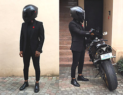 Funfere Koroye - Agv Helmet, Topman Jeans, Dainese Gloves, Uniqlo Shoes - Ikoyi Club