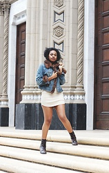 Darrel Kennedy - Inc International Concepts Faux Fur Lined Jacket, Hera Collection Dress, Dsw Boots - FATE SHIFTER