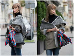 Anastasiia Masiutkina - Marc Cain Total Look - Basic colors #look for any fall/winter season!