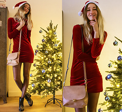 Eva Velt - Laauw Bag, Zaful Velvet Dress, Gamiss Booties - Pre Christmas Party