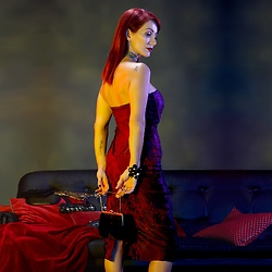 Redhead Illusion by Menia - Karen Millen Strapless Dress - Try to be classy and you'll never be forgotten...!