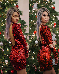 Catherine pham - Ivyrebel Red Sequin Dress - Litmas!