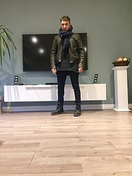 Ersan - G Star Black Edition, Boss Orange Scarf, Koton Jeans - Black and Skiny