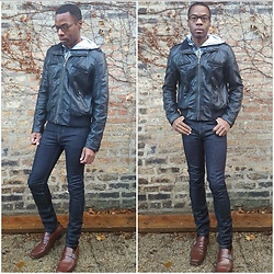 Thomas G - Xhilaration Faux Leather, Levi's 510 Strauss & Co, Kenneth Cole Dress Shoes - Strauss Effect