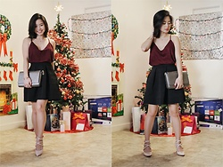 Divine Tio - Forever 21 Velvet Top, H&M Skirt, Kate Spade Bag, Nine West Shoes - Seasons Greetings, Humans!